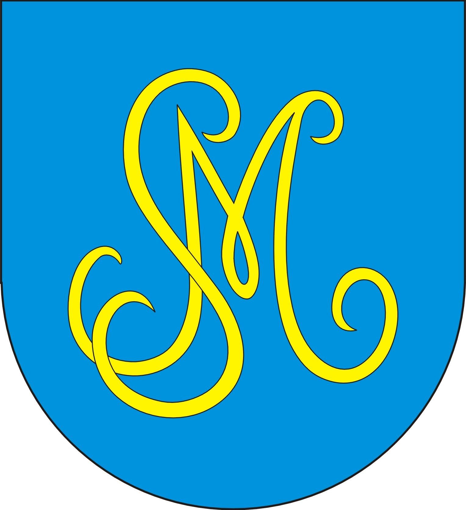 BIAŁACZÓW HERB I FLAGA niebieski